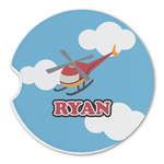Helicopter Sandstone Car Coasters (Personalized)