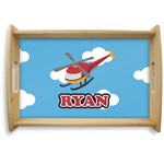 Helicopter Natural Wooden Tray (Personalized)