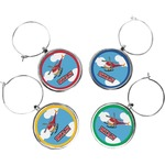 Helicopter Wine Charms (Set of 4) (Personalized)