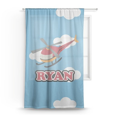 Helicopter Sheer Curtains (Personalized)