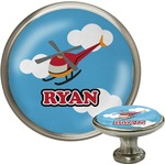 Helicopter Cabinet Knob (Silver) (Personalized)