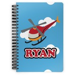 Helicopter Spiral Bound Notebook (Personalized)
