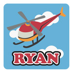 Helicopter Square Decal - Custom Size (Personalized)