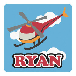 Helicopter Square Decal (Personalized)