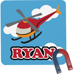 Helicopter Square Fridge Magnet (Personalized)