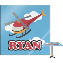 Helicopter Square Table Top (Personalized)