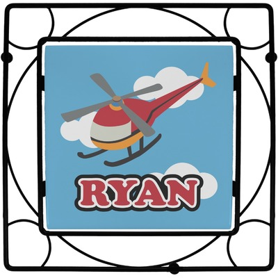 Helicopter Square Trivet (Personalized)