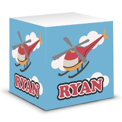 Helicopter Sticky Note Cube (Personalized)