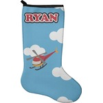 Helicopter Christmas Stocking - Neoprene (Personalized)