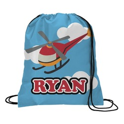 Helicopter Drawstring Backpack (Personalized)