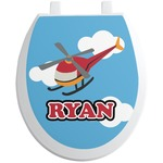 Helicopter Toilet Seat Decal (Personalized)