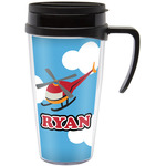 Helicopter Travel Mug with Handle (Personalized)