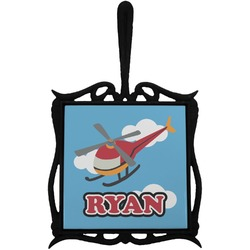 Helicopter Trivet with Handle (Personalized)