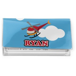 Helicopter Vinyl Checkbook Cover (Personalized)