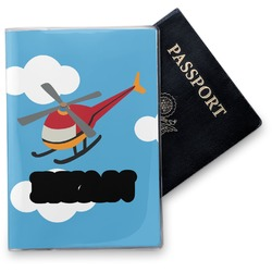 Helicopter Vinyl Passport Holder (Personalized)