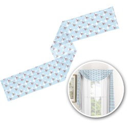 Helicopter Window Sheer Scarf Valance (Personalized)