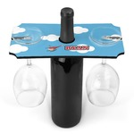 Helicopter Wine Bottle & Glass Holder (Personalized)