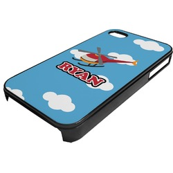 Helicopter Plastic 4/4S iPhone Case (Personalized)