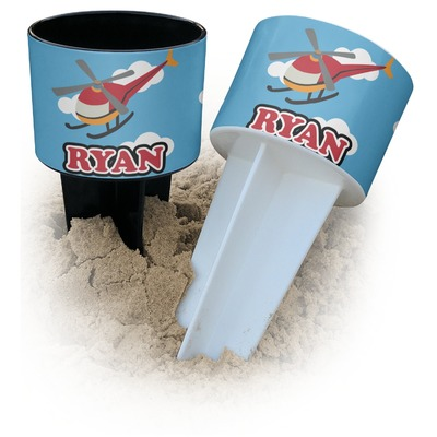 Helicopter Beach Spiker Drink Holder (Personalized)
