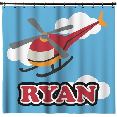 Helicopter Shower Curtain (Personalized)