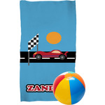 Race Car Beach Towel (Personalized)