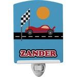 Race Car Ceramic Night Light (Personalized)