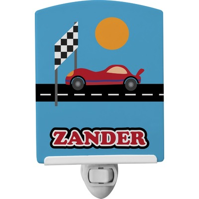 Race Car Ceramic Night Light (Personalized)