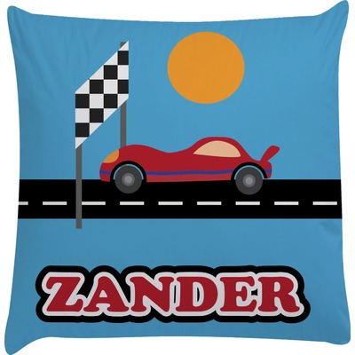 Race Car Decorative Pillow Case (Personalized)