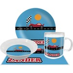 Race Car Dinner Set - 4 Pc (Personalized)