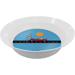 Race Car Melamine Bowl (Personalized)