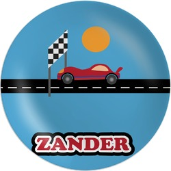 Race Car Melamine Plate (Personalized)