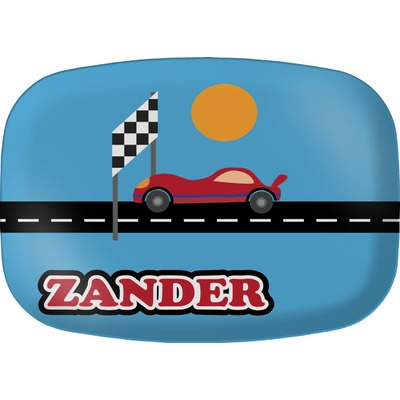 Race Car Melamine Platter (Personalized)