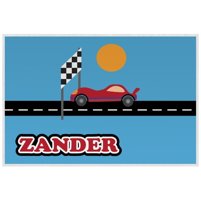 Race Car Laminated Placemat w/ Name or Text