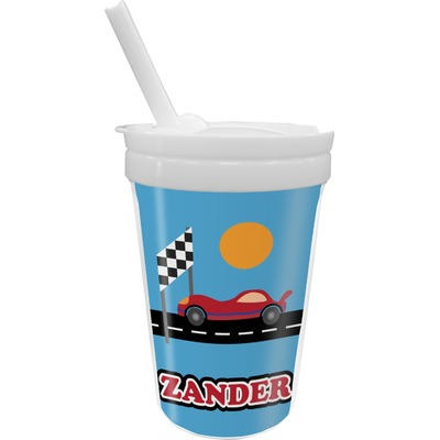 Race Car Sippy Cup with Straw (Personalized)