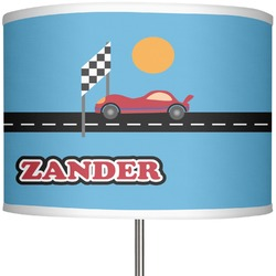 """Race Car 13"""" Drum Lamp Shade (Personalized)"""