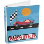 Race Car 3-Ring Binder (Personalized)