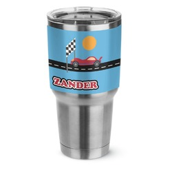 Race Car Stainless Steel Tumbler - 30 oz (Personalized)