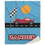 Race Car Sherpa Throw Blanket (Personalized)