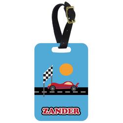 Race Car Aluminum Luggage Tag (Personalized)