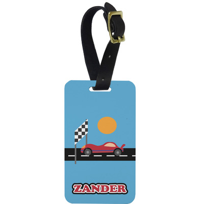 Race Car Aluminum Luggage Tag (Personalized)