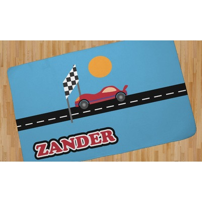 Race Car Area Rug (Personalized)