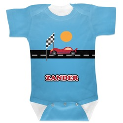 Race Car Baby Bodysuit (Personalized)