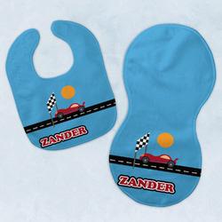 Race Car Baby Bib & Burp Set w/ Name or Text