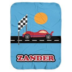 Race Car Baby Swaddling Blanket (Personalized)