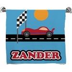 Race Car Bath Towel (Personalized)