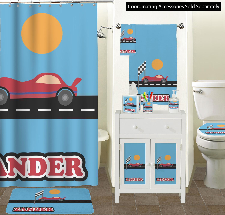 Race Car Bathroom Scene Custom Decor