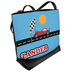 Race Car Beach Tote Bag (Personalized)