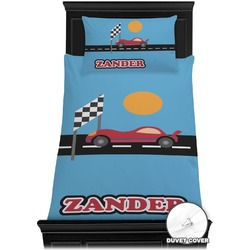 Race Car Duvet Cover Set - Twin (Personalized)