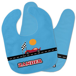 Race Car Baby Bib w/ Name or Text