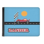Race Car Genuine Leather Men's Bi-fold Wallet (Personalized)